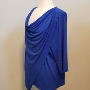 Asymmetrical blouse, plus size 3X from NY Collect.